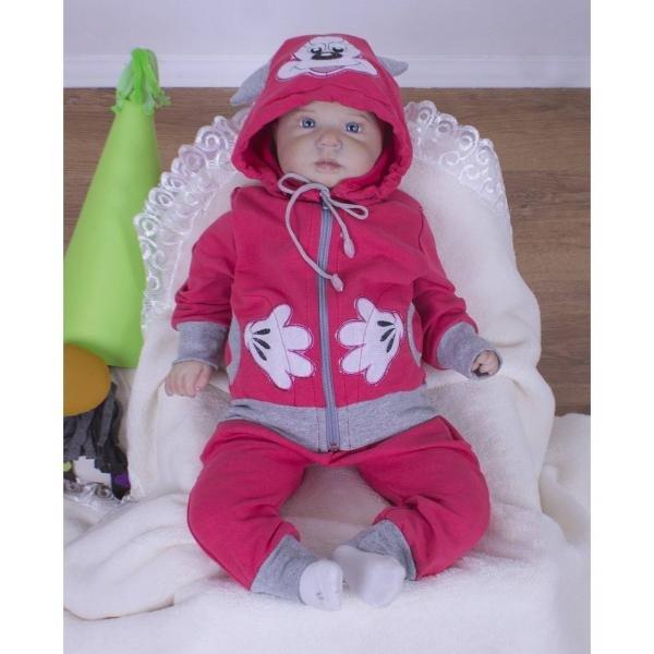 463b8fdef6858 Детский трикотажный костюм Микки малиновый - Детская одежда для ...