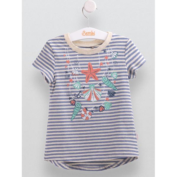 ad1e65fb02d4f4 Дитяча футболка для дівчинки Морська Зірка синя, Синій, 98